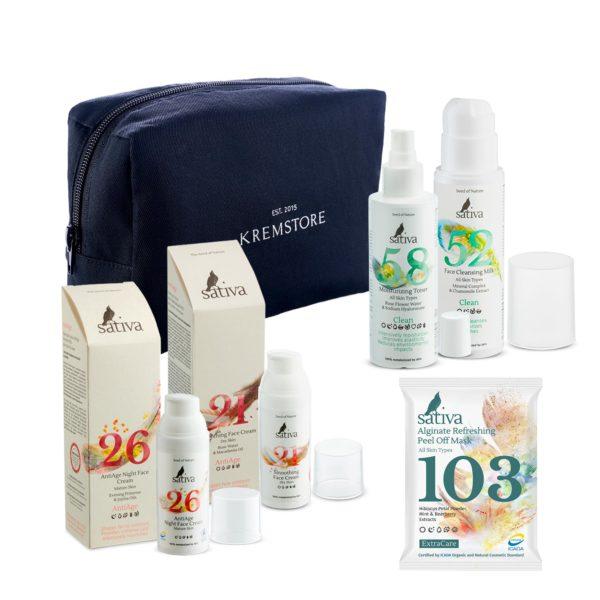 Набор Sativa AntiAge для сухой кожи