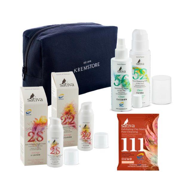 Набор Sativa AntiAge для жирной кожи